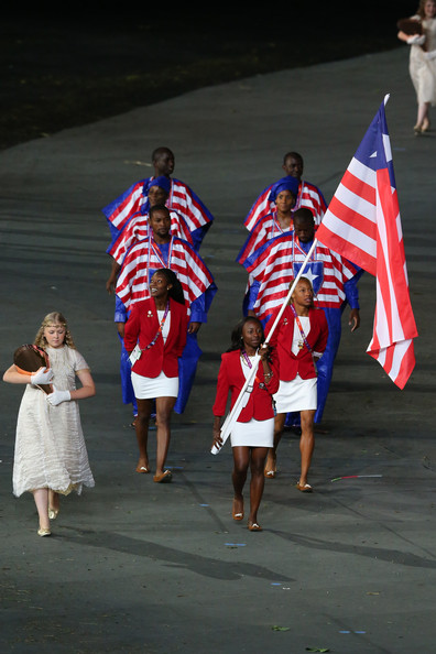The front five individuals are members of the Liberian Olympic Team. Levi Saryee is on the left (next to the All-Africa Game's Decathlon Gold Medalist).