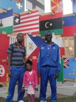 Levi Saryee on the left with two other Olympic guests.