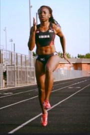 Liberian Sprinter Phobay Kutu-Akoi.