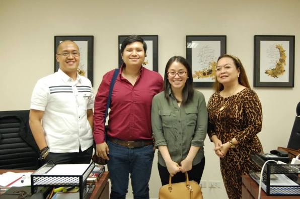 Pres. Evelyn Dumdum, Exec. Director Martin Angelo Esguerra, Raymond Mercado, and Angela Feria, who participated in the moot court competition sponsored by the Foundation.