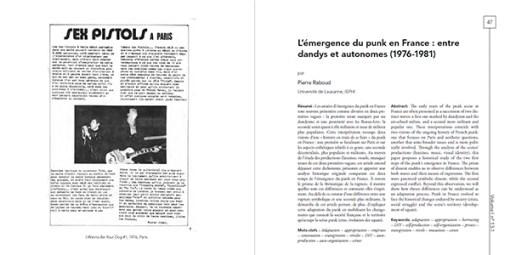 Volume !n° 13-1– La scène punk en France