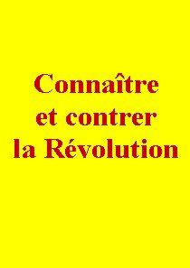 Connaître et contrer la Révolution