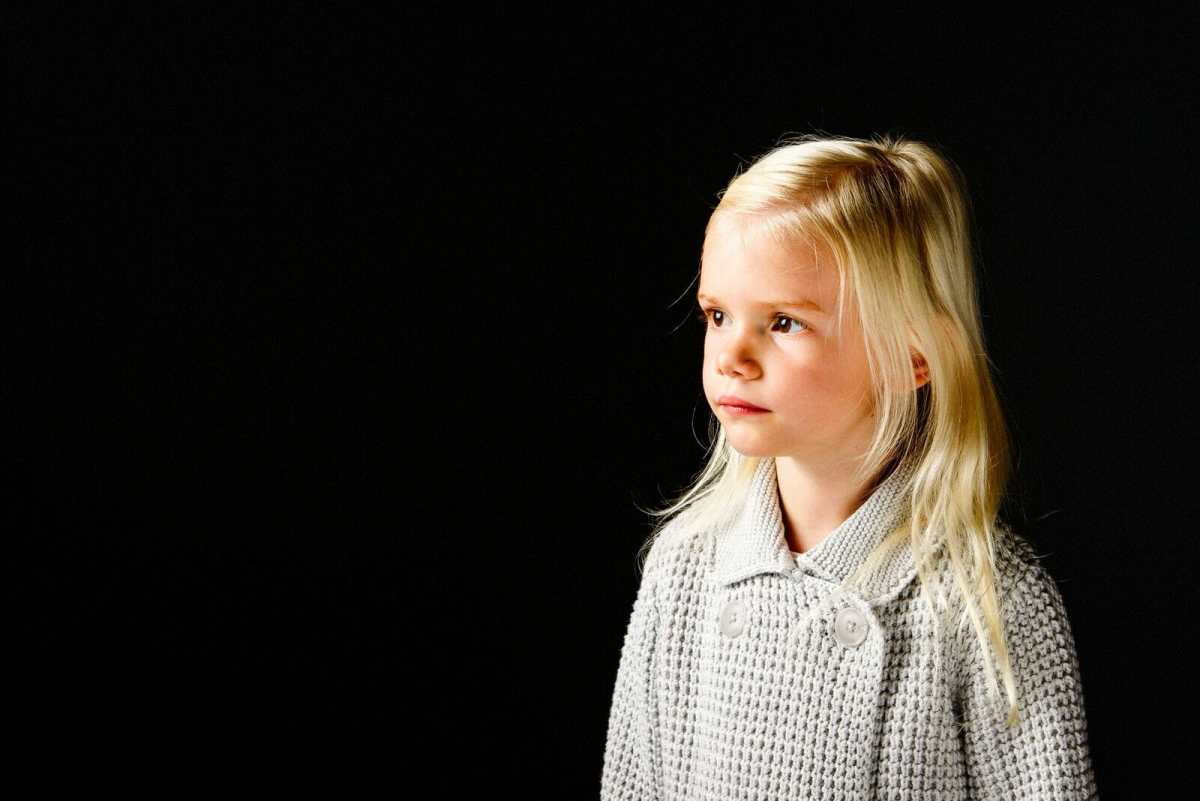 Child Model looking off camera in Poole