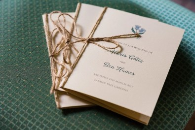 beautiful Handmade wedding stationery