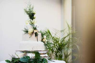 Wedding cake at the Larmertree gardens