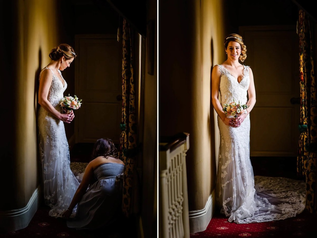 Bride all ready to go at Mortons House Hotel