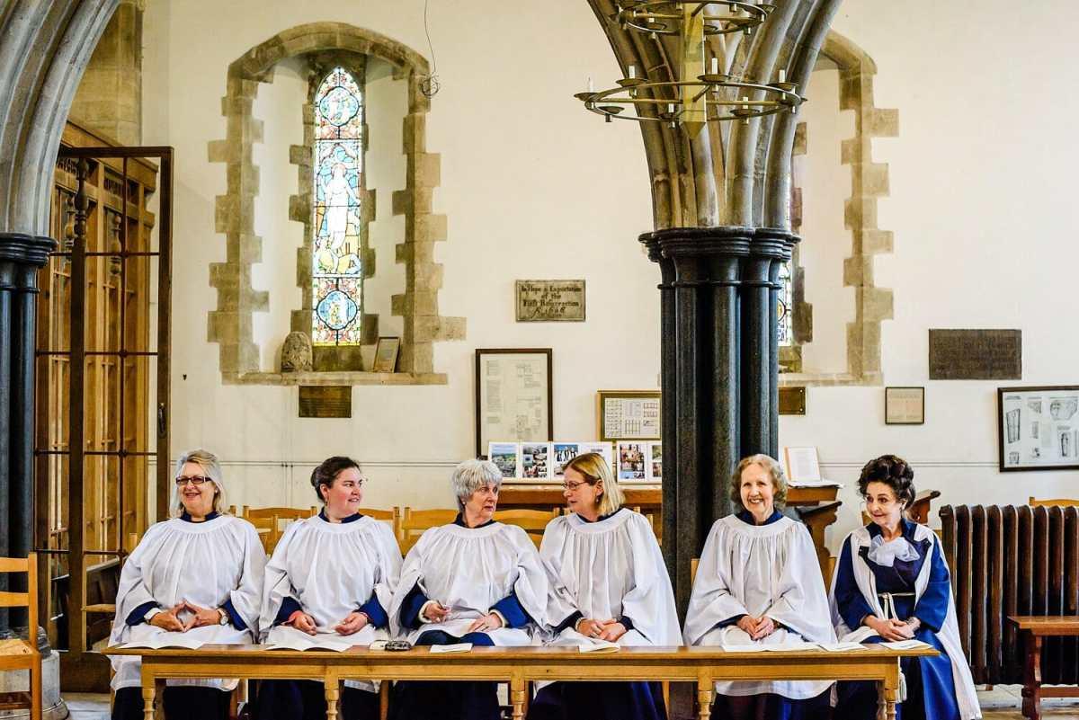 Saint Edwards Choir waiting to sing
