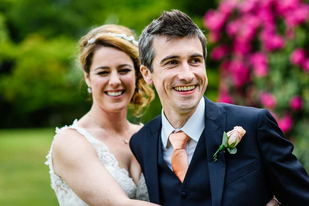 Bride and Groom go for a walk at Studland Bay House