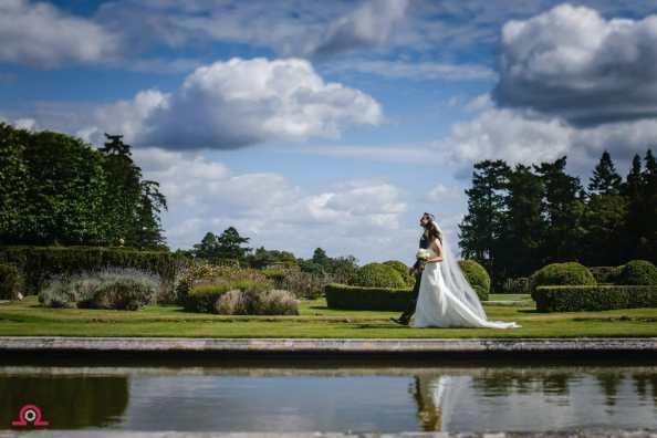 Outdoor wedding ceremony-Rhinefield House