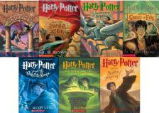 The Harry Potter series by J.K. Rowling.