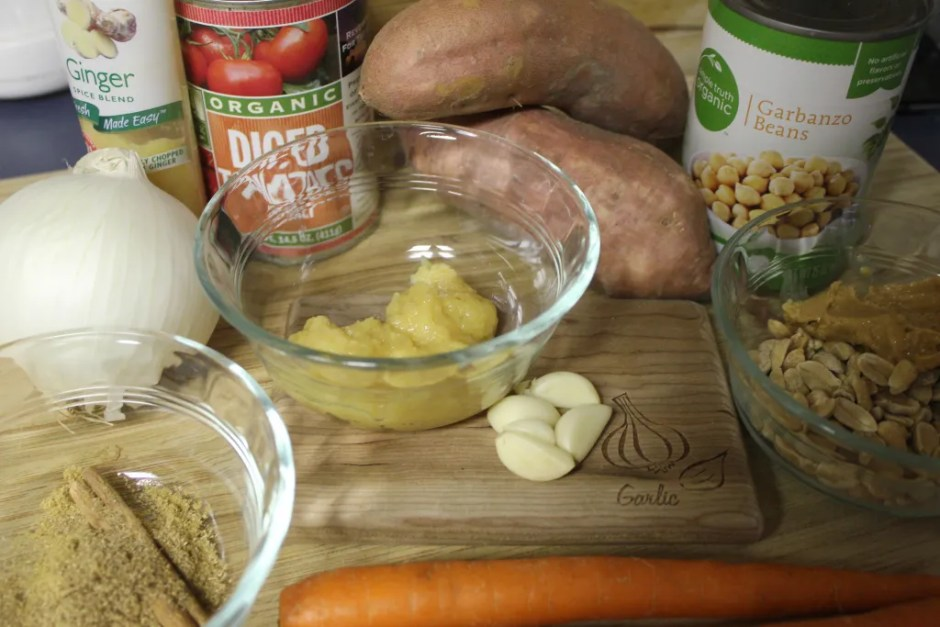 spices and ingedients african peanut soup