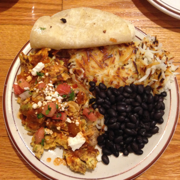 migas and beans
