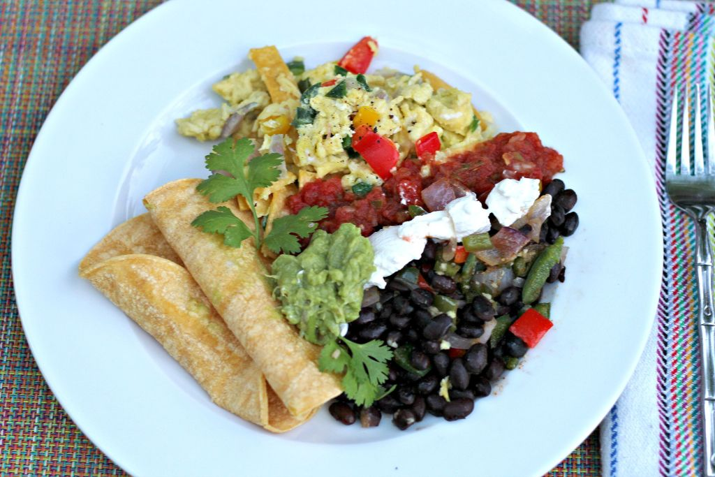 migas eggs and beans