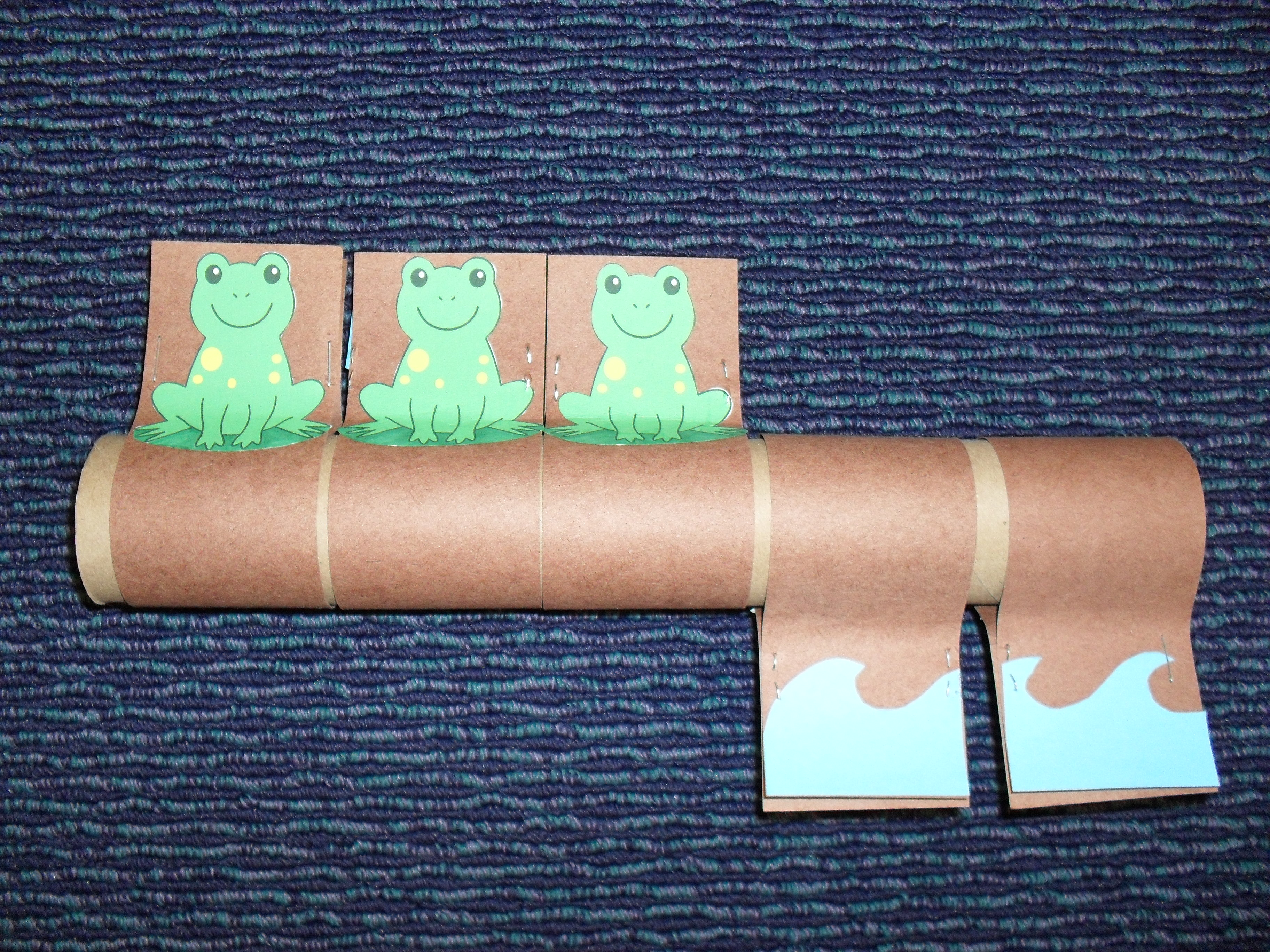 Tube Story Five Green And Speckled Frogs