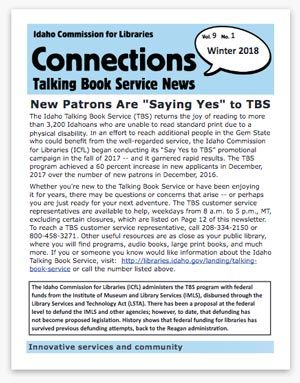 Connections Newsletter Cover Page Image