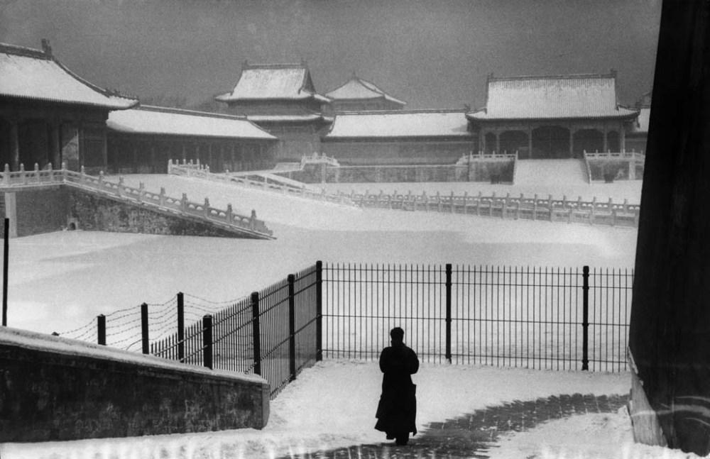 A tiltott város, Peking, Kína, 1957, zselatinos ezüst