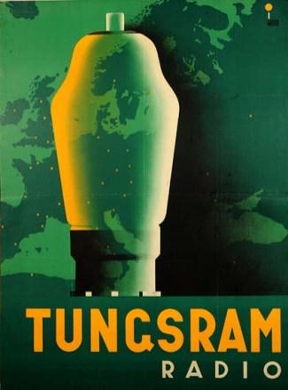 IRSAI István: Tungsram rádió, 1936Litography, 126x95 cm, R