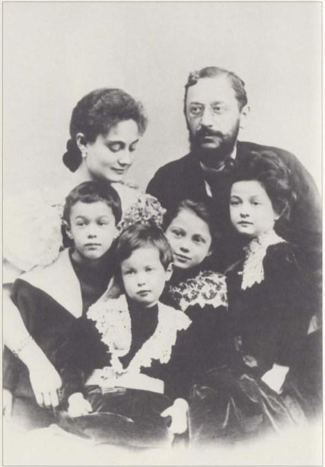 Weiss Manfréd feleségével_gyerekeivel