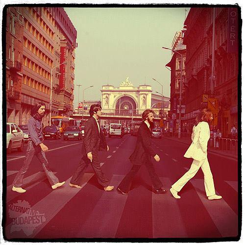 Beatles a Keletinél. (2012)  'Alternative Budapest' exhibition by KoPé
