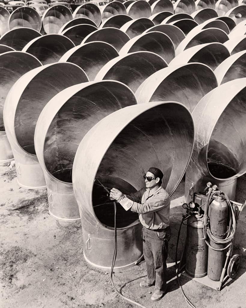 Hegesztő burkol, Kalifornia, 1942.