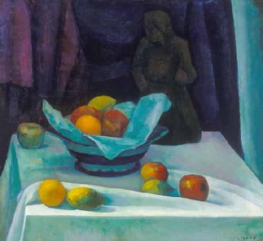 Czigány Dezső Csendélet gyümölcsökkel és szoborral