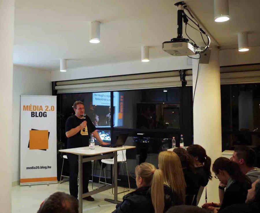 Stöckert Gábor a Média 2.0 előadásán - a szerző felvétele