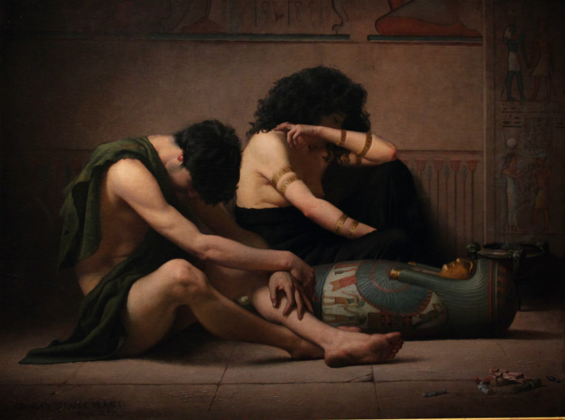 műtárgy, Lamentations_over_the_Death_of_the_First-Born_of_Egypt_by_Charles_Sprague_Pearce