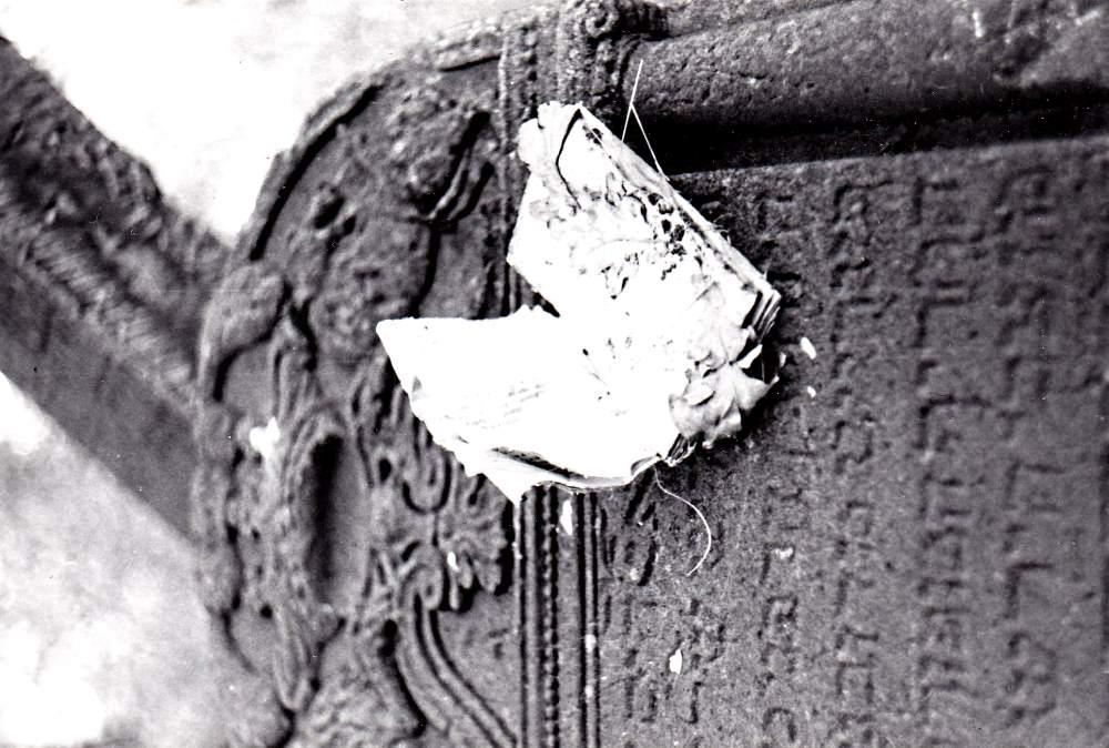 Sírkövek egy varsói zsidó temetőben a '90-es évek elején