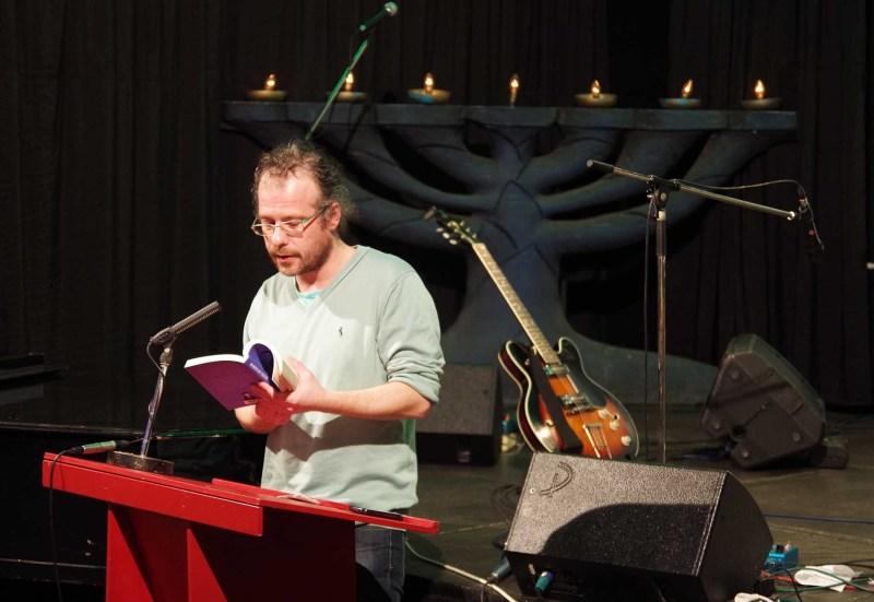 Papp Richárd előadása a Bálint házban - a szerző felvétele