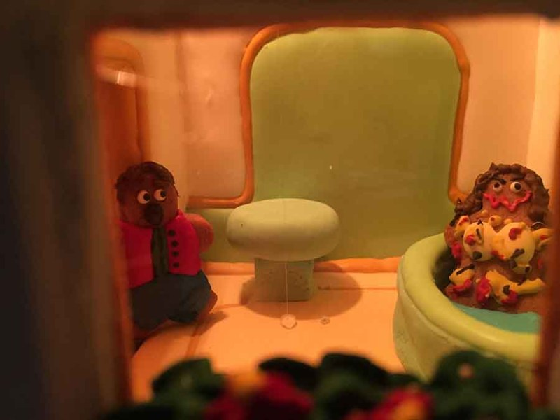 A Ragyogás egyik emlékezetes, fürdőszobás  jelenete