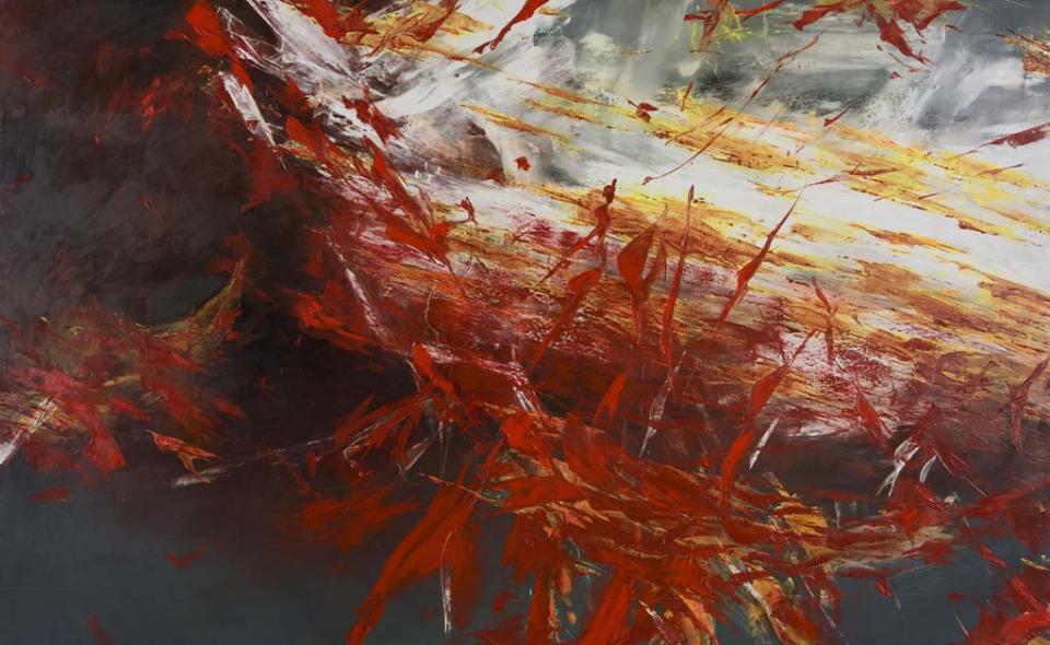 BIB: Flux CIII (129x210 cm, olaj, vászon, 2016)
