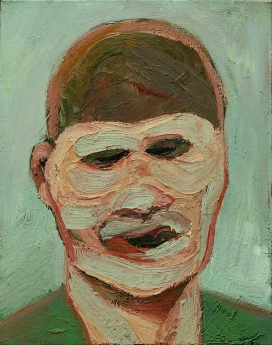 Portré, 2008,40x30, olaj,vászon