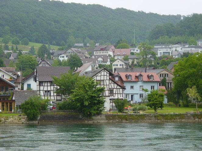 Schaffhausen, Rajna-part. Fotó: P. Sz.