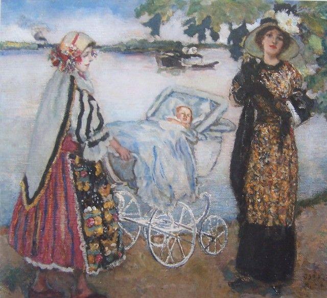 Csók István Züzü első sétája, 1910