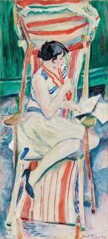 Frank Frigyes Mimi nyugágyban, 1927