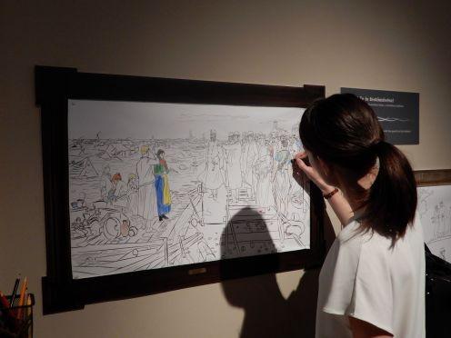 Te is megrajzolhatod a kiállítást. Fotó: Knob Alexandra