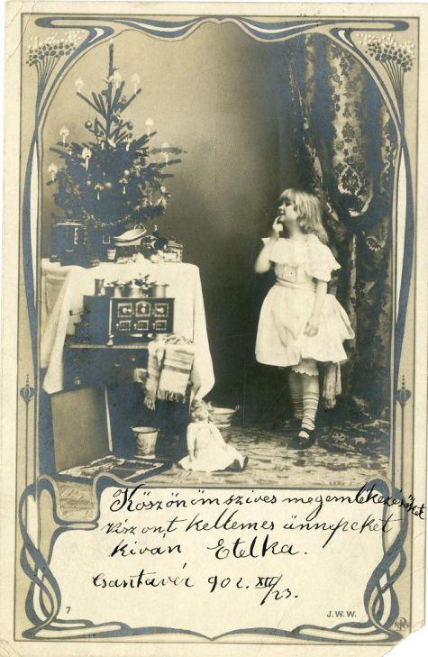 Karácsonyi képeslap 1902-ből