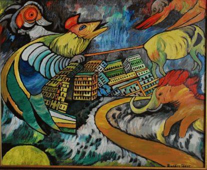 Rombolás - a világ elpusztítása Balázs János festménye