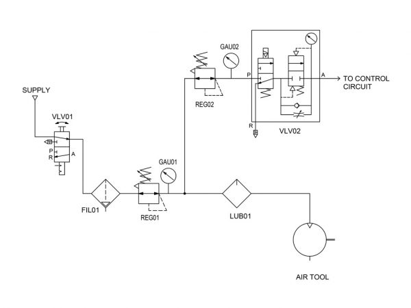 figure 1 start circuit schematic diagram