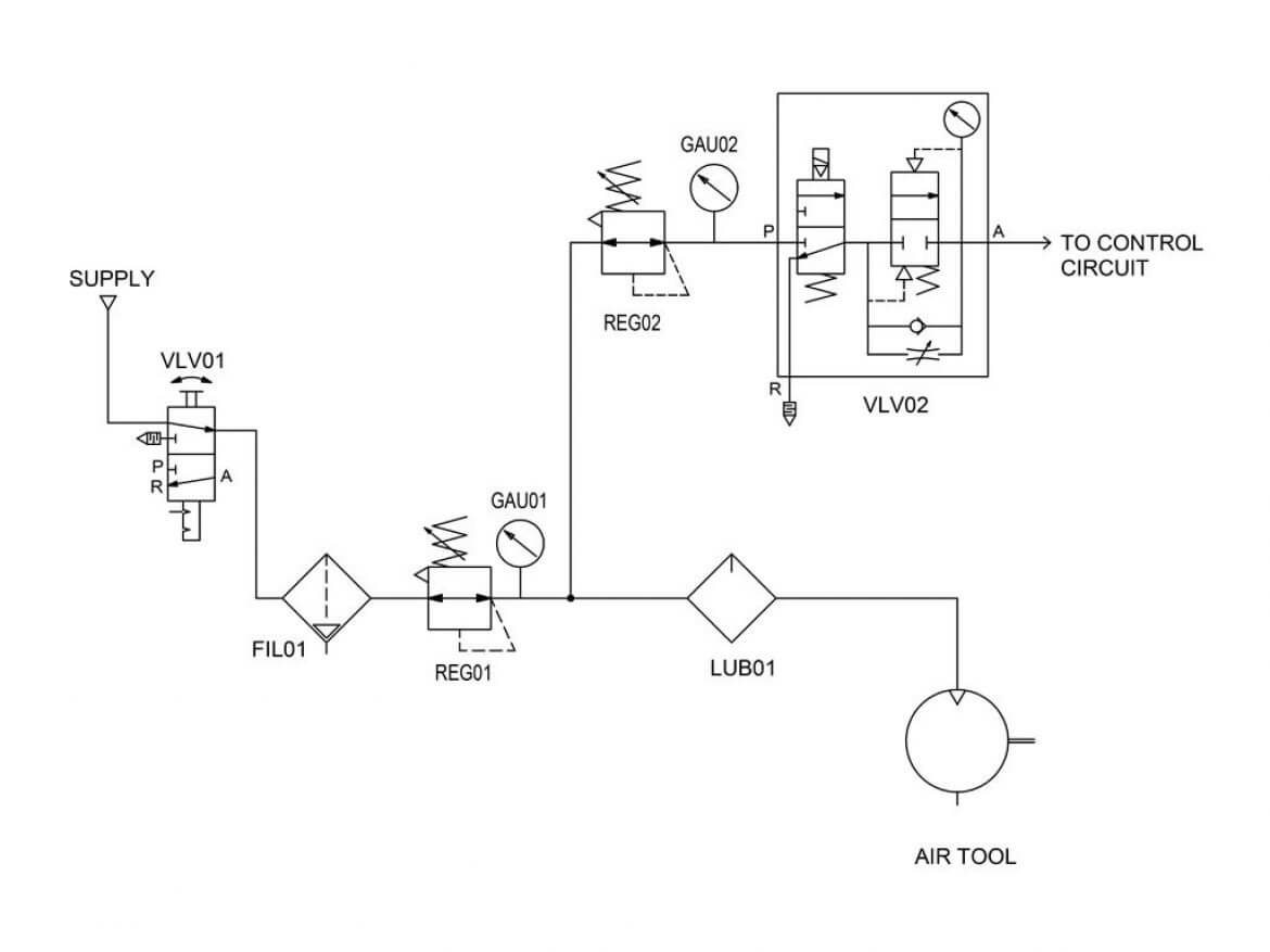 pneumatics circuit diagram