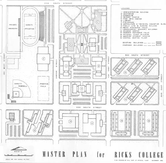 1963: Maps of Ricks College/BYU-Idaho