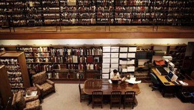 Shelves of documents