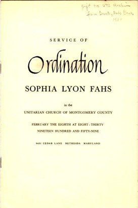 Sophia Lyon Fahs  Columbia University Libraries