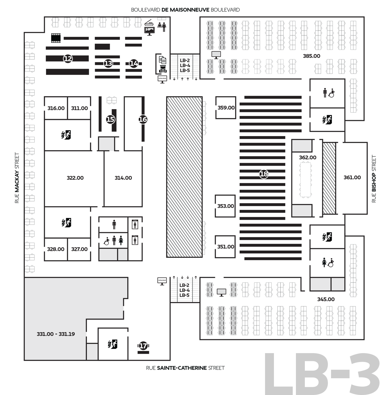 Library Floor Plans Locations Amp Hours Concordia