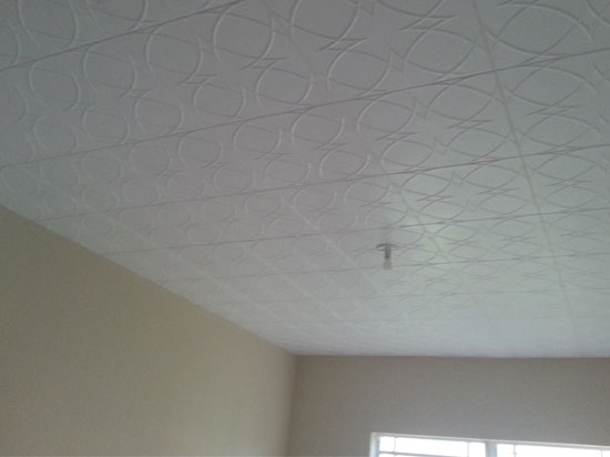 Circles and Stars  Styrofoam Ceiling Tile  20x20  R82  DCT Gallery