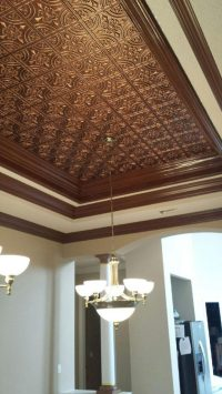 Wrought Iron  Faux Tin Ceiling Tile  Glue up  24x24 ...