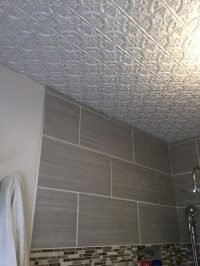 Metal Ceiling Tiles In Bathroom