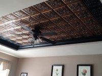 Lovers Knot  Faux Tin Ceiling Tile  Glue up  24x24 ...