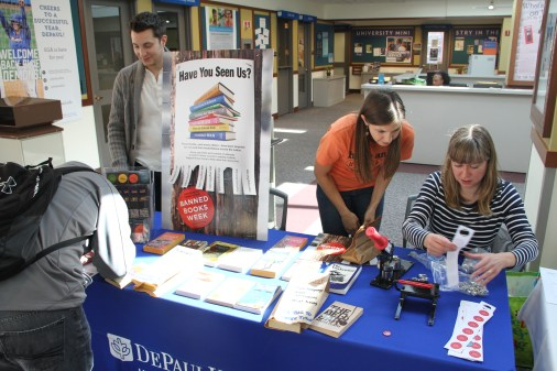 Banned Books Pop-up Shop and Information Table, Loop Campus