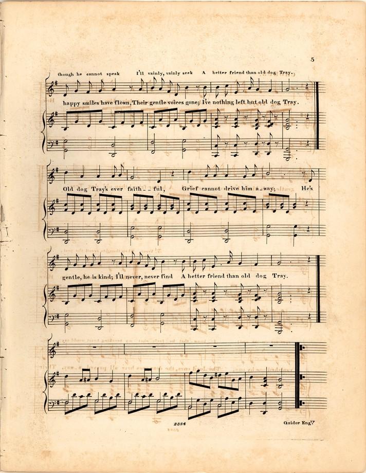 Old Dog Tray [Historic American Sheet Music]